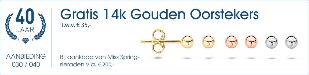 030 / 040 - Gratis 14k Gouden Oorknopjes